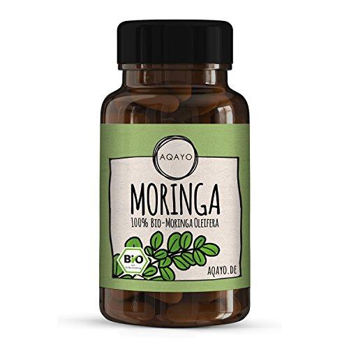 Unsere Empfehlung: AQAYO Moringa Kapseln • 100% Bio-Moringa Oleifera • 90 vegane Moringa Kapseln für 30-45 Tage
