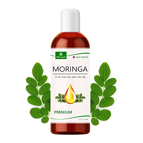 Unsere Empfehlung: 100 ml kaltgepresstes Moringa Öl • Aus 100 % Qualitätssamen • Von MoriVeda